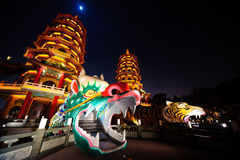 Dragon Tiger Tower of kaohsiung Stock Images