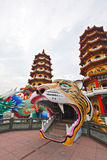 Dragon Tiger Tower in Taiwan Stock Photo