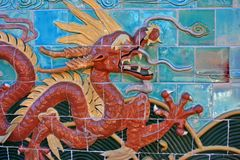 Dragon tiles Stock Images