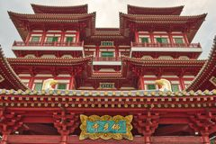 Dragon Tooth Relic Temple in Singapur stockbilder