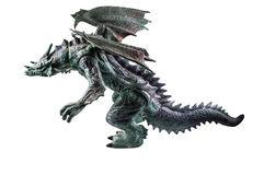 Dragon. Toy dragon on isolated white background Royalty Free Stock Image