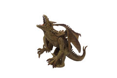Dragon toy photo. Isolated dragon toy photo angle view Royalty Free Stock Image