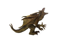 Dragon toy photo. Isolated dragon toy photo side view Royalty Free Stock Photo