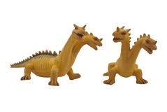 Dragon toy photo. Isolated two-headed dragon toy full face and angle view photo Stock Photos