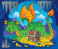 Dragon with treasure theme image 3 Royalty Free Stock Image