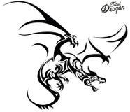 Dragon tribal illustration libre de droits