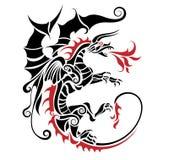 Dragon tribal Image libre de droits