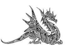 Dragon tribal tattoo Royalty Free Stock Image