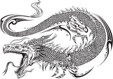 Dragon Tribal Tattoo Vector Stock Photos