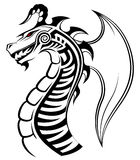 Dragon, tribal tattoo Royalty Free Stock Photos
