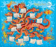 Dragon with twelve heads Royalty Free Stock Photo