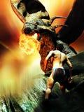 Dragon un homme de d Photos libres de droits