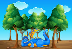 A dragon under the trees Stock Image