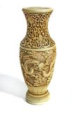 Dragon vase Stock Images