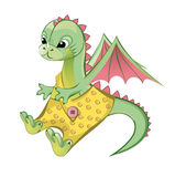 Dragon. vector  Royalty Free Stock Photos