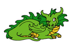 Dragon. Vector illustration of a cartoon dragon Royalty Free Stock Images