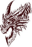 Dragon. Vector illustration of a dragon in one color Royalty Free Stock Image