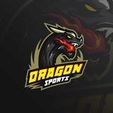 Dragon vector mascot logo design with modern illustration concept style for badge, emblem and tshirt printing. angry dragon royalty free illustration