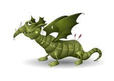 Dragon vert Images libres de droits