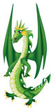 Dragon vert de dessin animé Photo libre de droits