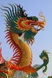 Dragon. View chinese gold dragon style Royalty Free Stock Images