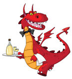 Dragon waiter Stock Image