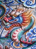 Dragon on wall stock photography