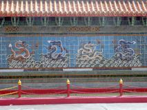 Dragon wall. Background close up stock photos