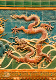 Dragon wall Royalty Free Stock Images