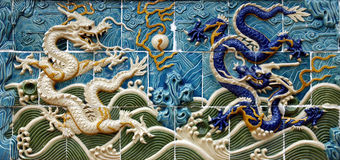 Dragon wall Stock Photo