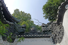 Free Dragon Wall In Yu Garden Stock Image - 38353031