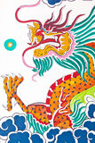 Dragon on wall in temple Stock Image