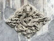 Dragon wall. Is very decorative,and means high social status royalty free stock images