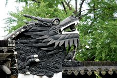 Dragon wall in Yu Garden , Shanghai. Dragon wall in Yu Garden in Shanghai. .It is characteristic of the architectural style of the Ming royalty free stock photos