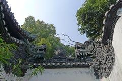 Dragon wall in Yu Garden Stock Image