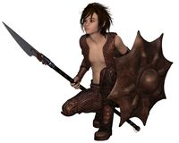 Dragon Warrior Boy die - buigen Royalty-vrije Stock Foto