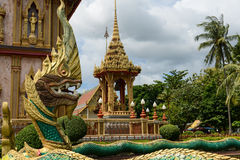 Dragon at Wat Chalong Stock Photo