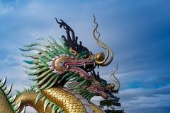Dragon at wat hyua pla kang Royalty Free Stock Image