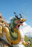 Dragon at wat hyua pla kang Royalty Free Stock Image