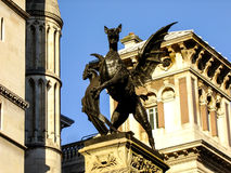 Dragon watching over London CIty Royalty Free Stock Images
