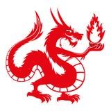 Dragon on white background. Vector illustration of dragon  on white background Stock Photography
