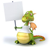 Dragon with a white tshirt Stock Images
