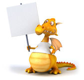 Dragon with a white tshirt Stock Photography