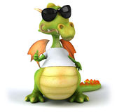 Dragon with a white tshirt Stock Photos