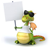 Dragon with a white tshirt Royalty Free Stock Photography