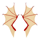 Бdragon wing  illustration isolated on a white background Stock Photography