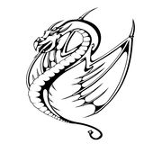 Dragon wings Stock Photos