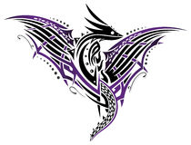 Dragon with wings Royalty Free Stock Images