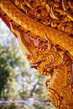Dragon Wood Carving On A Wall Of A Buddhist Temple Royalty Free Stock Photos