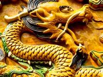 Dragon woodcut artwork Royalty Free Stock Image